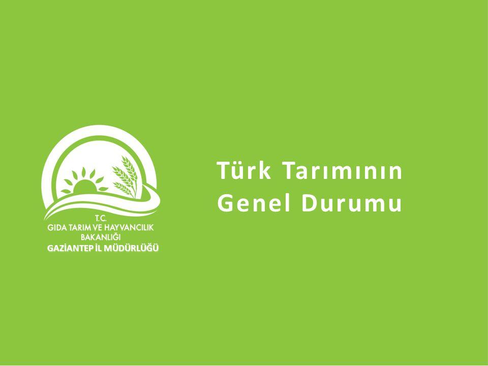 İZMİR'DE TARIM İl Gıda Tarım ve Hayvancılık Müdürü AHMET GÜLDAL Türk Tarımının Genel Durumu GAZİANTEP İL MÜDÜRLÜĞÜ GAZİANTEP İL MÜDÜRLÜĞÜ