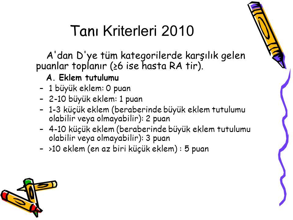 Tanı Kriterleri 2010 B.