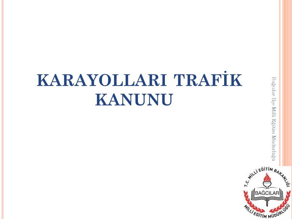 KARAYOLU TAŞIMA KANUNU Bağcılar İlçe Milli Eğitim Müdürlüğü Bu Kanunun amacı; karayolu taşımalarını ülke ekonomisinin gerektirdiği şekilde düzenlemek, taşımada düzeni ve güvenliği sağlamak, taşımacı, acente ve taşıma işleri komisyoncuları ile nakliyat ambarı ve kargo işletmeciliği ve benzeri hizmetlerin şartlarını belirlemek, taşıma işlerinde istihdam edilenlerin niteliklerini, haklarını ve sorumluluklarını saptamak, karayolu taşımalarının, diğer taşıma sistemleri ile birlikte ve birbirlerini tamamlayıcı olarak hizmet vermesini ve mevcut imkânların daha yararlı bir şekilde kullanılmasını sağlamaktır.