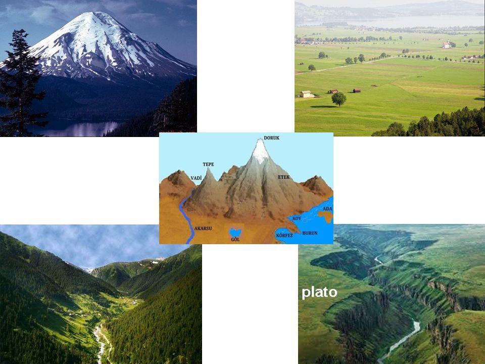 Dağ Deniz seviyesinden 600 metre ve daha fazla yükseklikte olan yeryüzü şekillerine dağ denir.