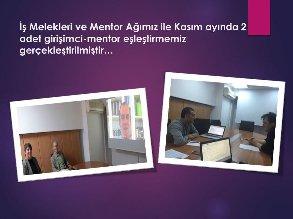 İş Melekleri ve Mentor Ağımız ile Kasım ayında 2 adet girişimci-mentor eşleştirmemiz gerçekleştirilmiştir…