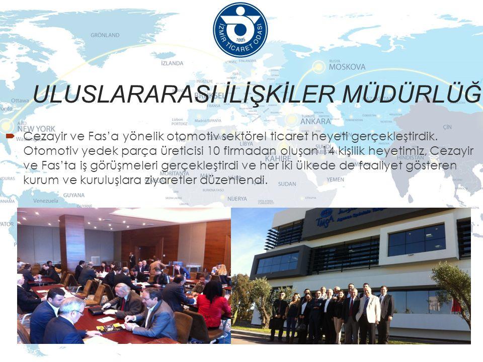 ULUSLARARASI İLİŞKİLER MÜDÜRLÜĞÜ  Cezayir ve Fas'a yönelik otomotiv sektörel ticaret heyeti gerçekleştirdik.