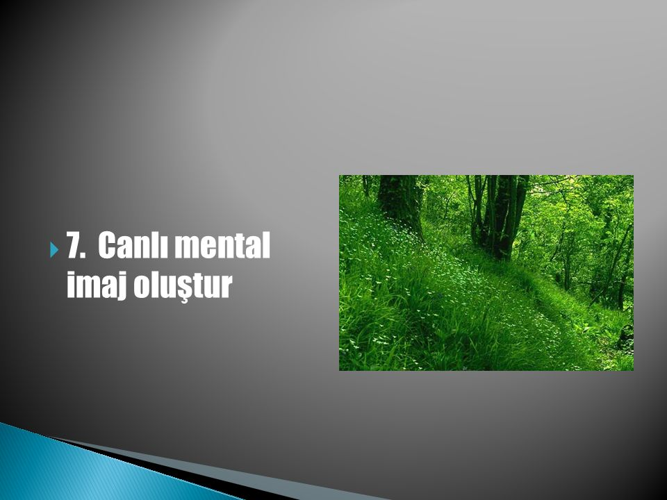  7. Canlı mental imaj oluştur