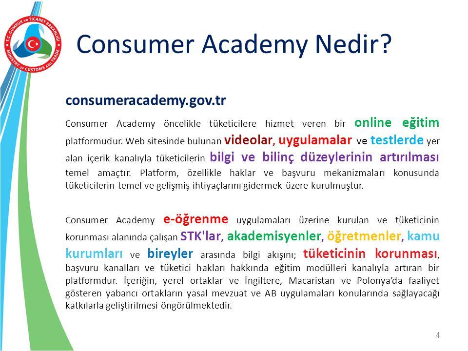 Consumer Academy Nedir? consumeracademy.gov.tr Consumer Academy öncelikle tüketicilere hizmet veren bir online eğitim platformudur. Web sitesinde bulu