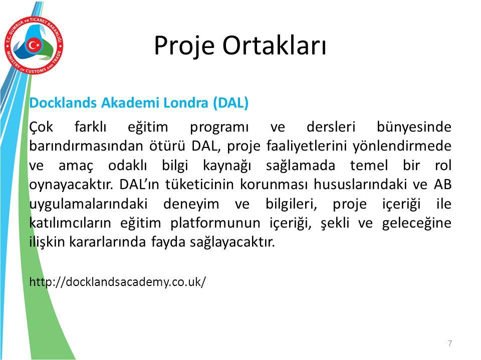 Docklands Akademi Londra (DAL) Çok farklı eğitim programı ve dersleri bünyesinde barındırmasından ötürü DAL, proje faaliyetlerini yönlendirmede ve ama