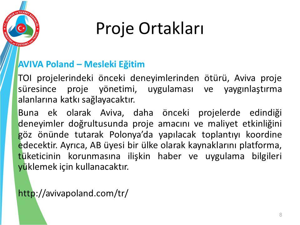 AVIVA Poland – Mesleki Eğitim TOI projelerindeki önceki deneyimlerinden ötürü, Aviva proje süresince proje yönetimi, uygulaması ve yaygınlaştırma alanlarına katkı sağlayacaktır.