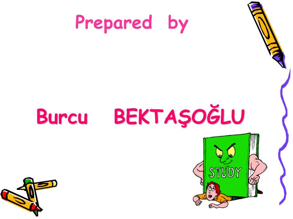 Prepared by Burcu BEKTAŞOĞLU