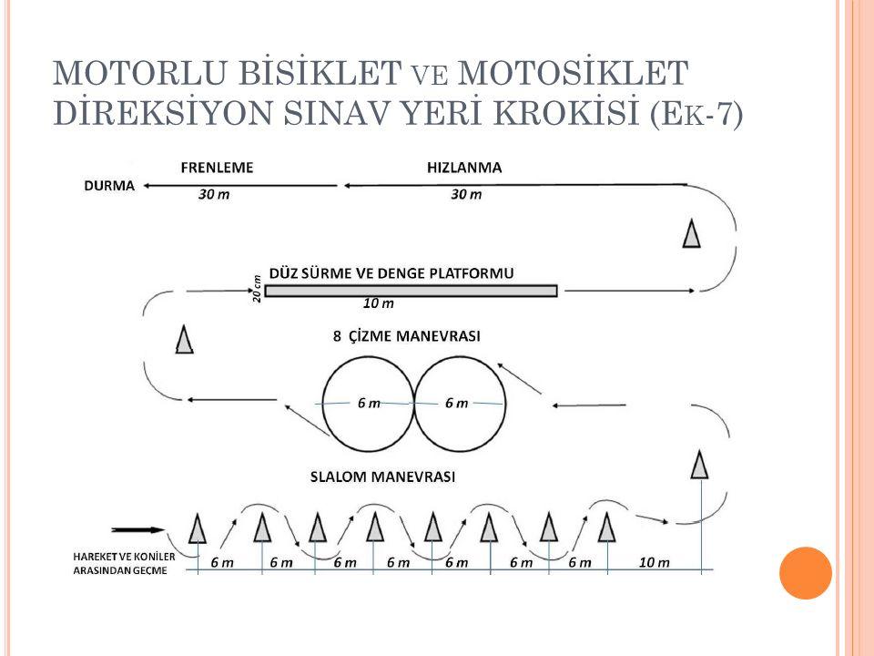 MOTORLU BİSİKLET VE MOTOSİKLET DİREKSİYON SINAV YERİ KROKİSİ (E K -7)