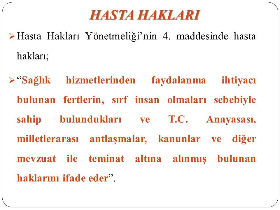  Türk Tabipler Birliği Hekimlik Meslek Etiği Kuralları'nda da malpraktis; Bilgisizlik, deneyimsizlik ya da ilgisizlik nedeni ile bir hastanın zarar görmesi hekimliğin kötü uygulanması anlamına gelir şeklinde ifade edilmiştir.