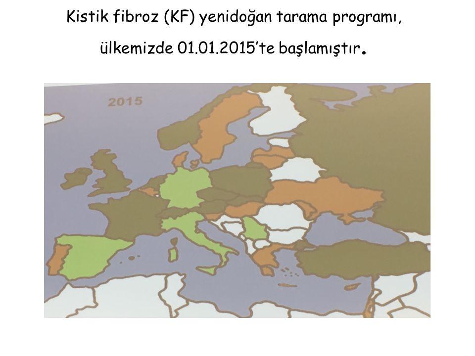 Kistik fibroz (KF) yenidoğan tarama programı, ülkemizde 01.01.2015'te başlamıştır.