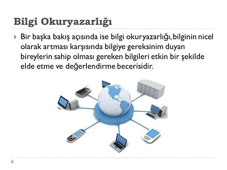 E-Okuryazarlık  Elektronik metinler üzerine kurulu bir bakış açısını yansıtmaktadır.