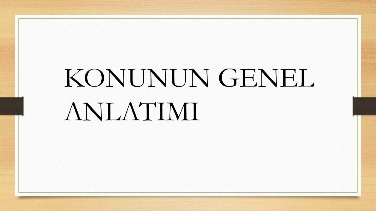 KONUNUN GENEL ANLATIMI