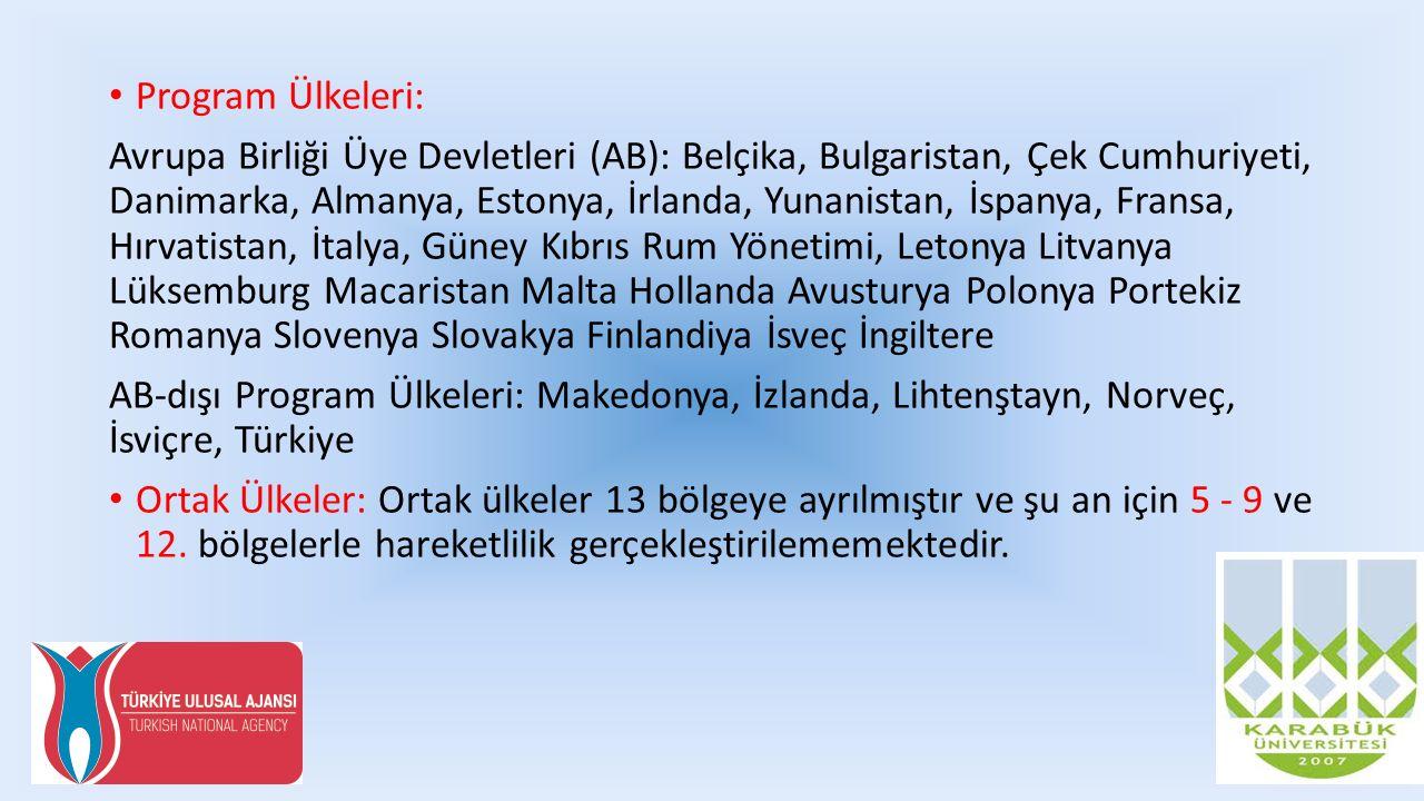 Bölgelere Göre Ortak Ülkeler Batı Balkanlar (Bölge 1): Arnavutluk, Bosna Hersek, Kosova, Karadağ, Sırbistan Doğu Ortaklığı Ülkeleri (Bölge 2): Ermenistan, Azerbaycan, Beyaz Rusya, Gürcistan, Moldova, Ukrayna (uluslararası hukuk ile tanınan) Güney Akdeniz Ülkeleri (Bölge 3): Cezayir, Mısır, İsrail, Ürdün, Lübnan, Libya, Fas, Filistin, Suriye, Tunus Rusya Federasyonu (Bölge 4): Rusya (uluslararası hukuk ile tanınan) Bölge 6 (Asya): Afganistan, Bangladeş, Butan, Kamboçya, Çin, Kuzey Kore, Hindistan, Endonezya, Laos, Malezya, Maldivler, Moğolistan, Myanmar, Nepal, Pakistan, Filipinler, Sri Lanka, Tayland, Vietnam Bölge 7 (Orta Asya): Kazakistan, Kırgızistan, Tacikistan, Türkmenistan, Özbekistan