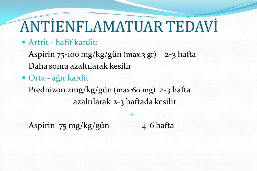 Antibiyotik tedavisi GAS tedavisi için önerilen tedavi penisilin tedavisidir Akut hastalık başladıktan sonra 9 gün içinde tedaviye başlanması ARA'yı önlemektedir Kültür sonucu için 24-48 saat antibiyotik başlamadan beklemek ARA riskini arttırmaz Tedaviye başladıktan 24 saat sonra bulaşıcılık kaybolur
