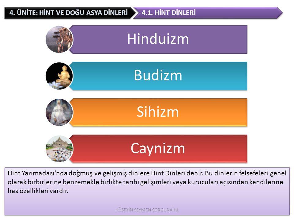 4.ÜNİTE: HİNT VE DOĞU ASYA DİNLERİ Taoizm in kurucusu Lao-Tzu' dur.