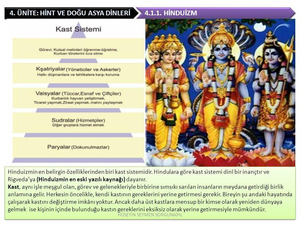 4.ÜNİTE: HİNT VE DOĞU ASYA DİNLERİ Şinto tanrıların yolu demektir.