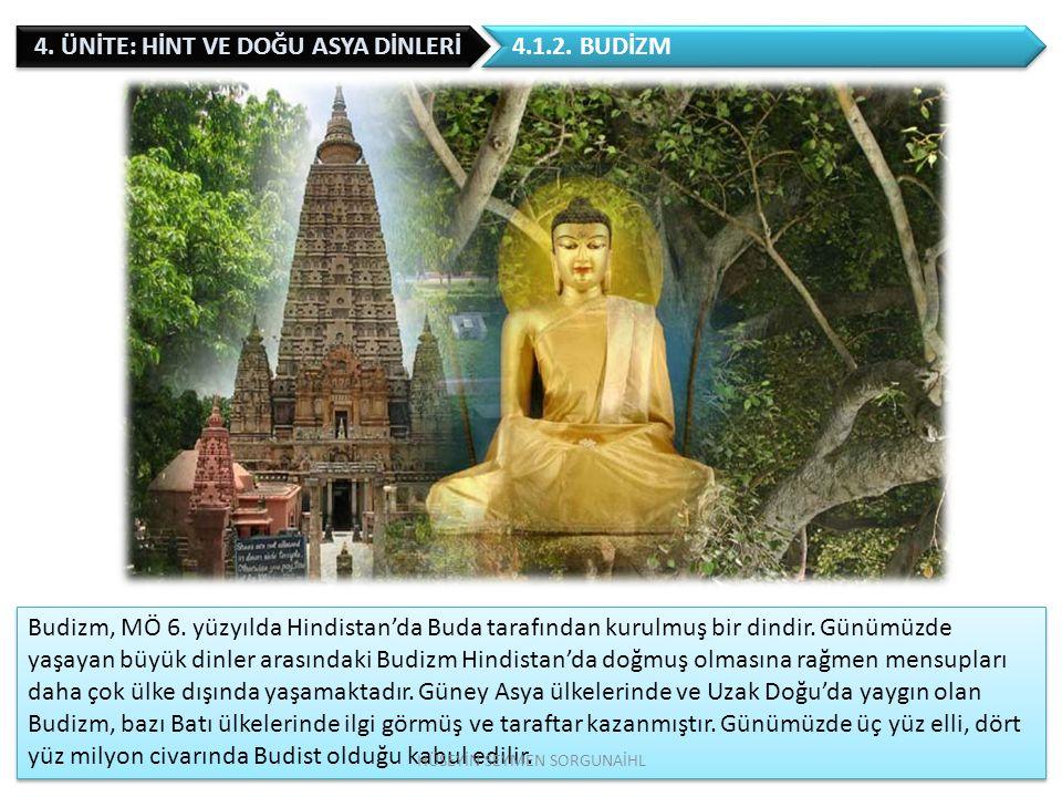 1.HİNT DİNLERİ 1.1. Hinduizm 1.2. Budizm 1.3. Sihizm 1.4.