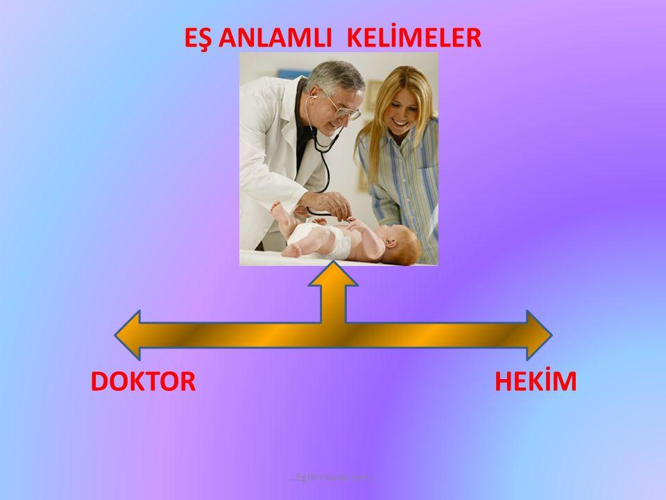 EŞ ANLAMLI KELİMELER DOKTOR HEKİM …Egitimhane.com…