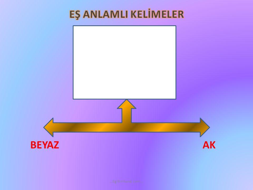 EŞ ANLAMLI KELİMELER SONBAHAR GÜZ …Egitimhane.com…