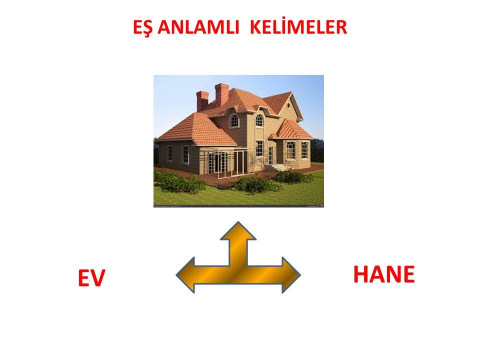 EŞ ANLAMLI KELİMELER HANE EV