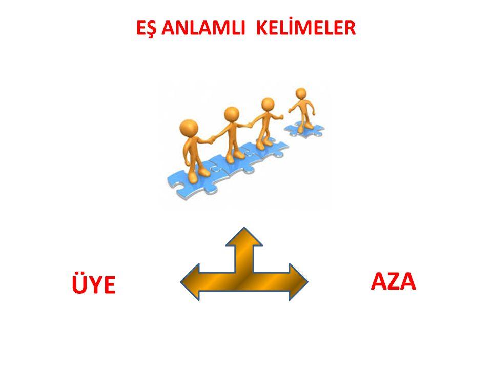 EŞ ANLAMLI KELİMELER AZA ÜYE
