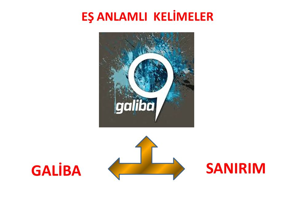EŞ ANLAMLI KELİMELER SANIRIM GALİBA