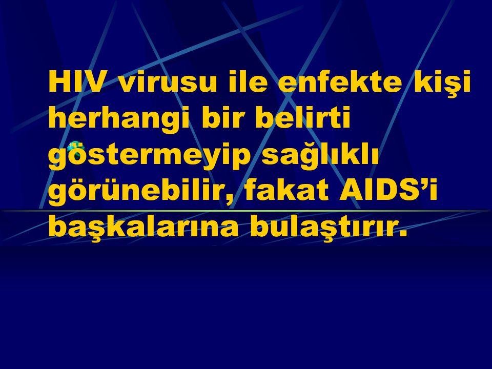 Bursa Halk Sağlığı Müdürlüğü Bulaşıcı Hastalıklar Kontrol Programları Şube Md.6 AIDS Nasıl Farkedilir? AIDS Virusu (HIV) bir insana bulaştıktan sonra