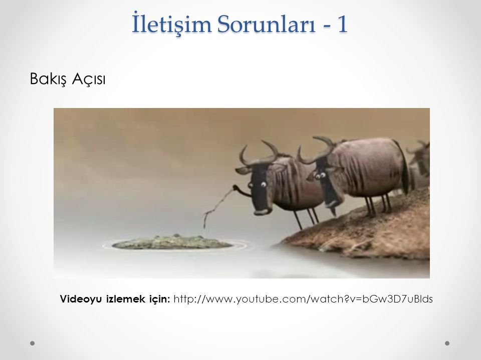 Bakış Açısı İletişim Sorunları - 1 Videoyu izlemek için: http://www.youtube.com/watch?v=bGw3D7uBlds