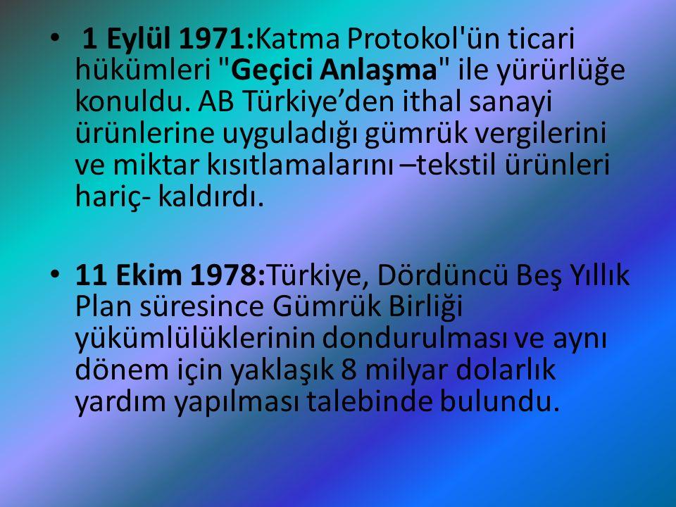 22 Ocak 1982:Avrupa Parlamentosu, Türkiye- AET Anlaşması'nın askıya alınmasını Konsey ve Komisyon'dan istedi, ilişkiler fiilen donduruldu.
