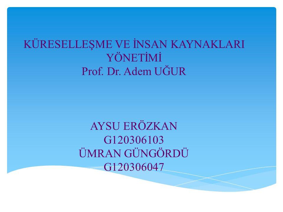 KÜRESELLEŞME VE İNSAN KAYNAKLARI YÖNETİMİ Prof. Dr.