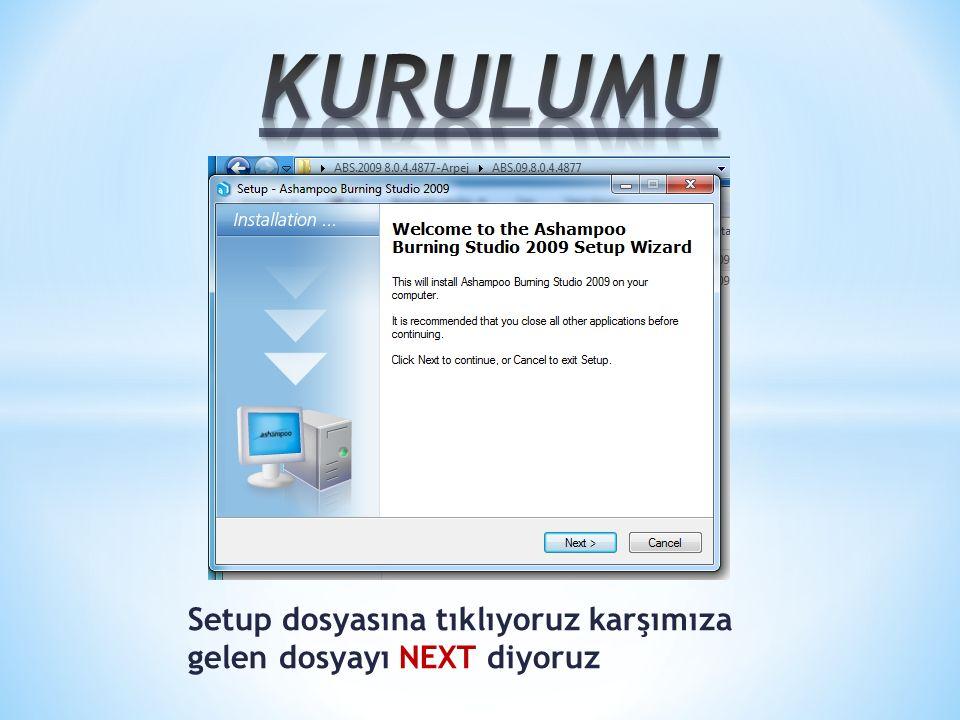 İlk adım olarak indirdiğimiz Nero-9.4.12.3d_free.exe yi çalıştırıyoruz.