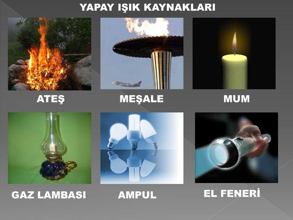 ATEŞMEŞALEMUM GAZ LAMBASIAMPUL EL FENERİ YAPAY IŞIK KAYNAKLARI