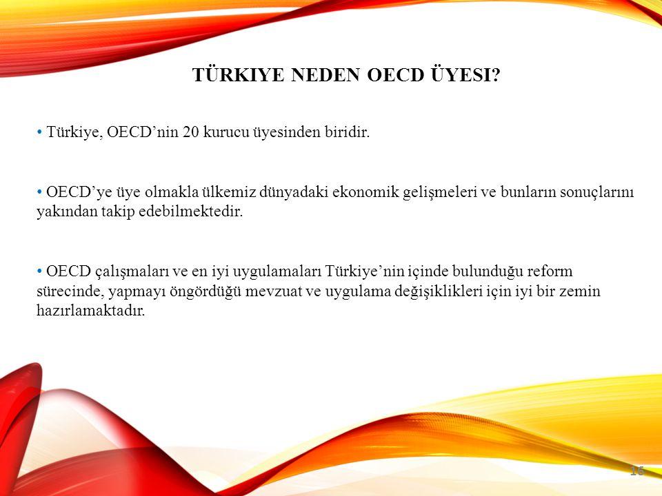 TÜRKIYE NEDEN OECD ÜYESI.16 Türkiye, OECD'nin 20 kurucu üyesinden biridir.
