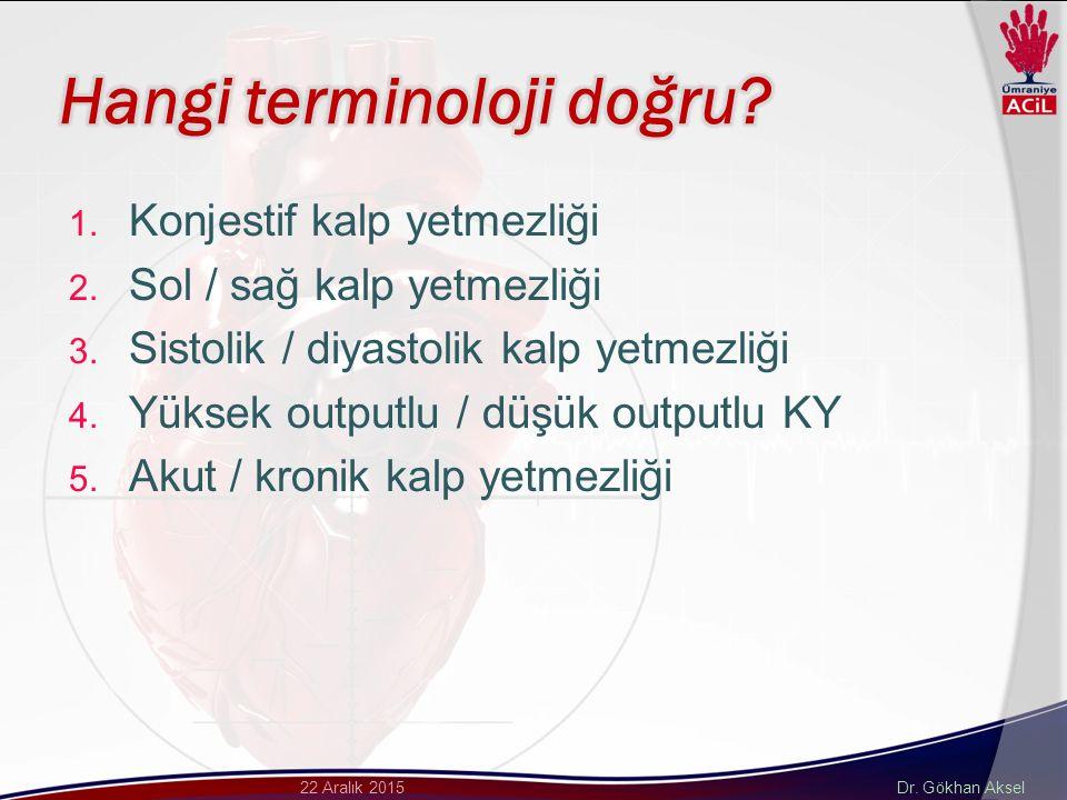 Dr. Gökhan Aksel22 Aralık 2015 1. Konjestif kalp yetmezliği 2.