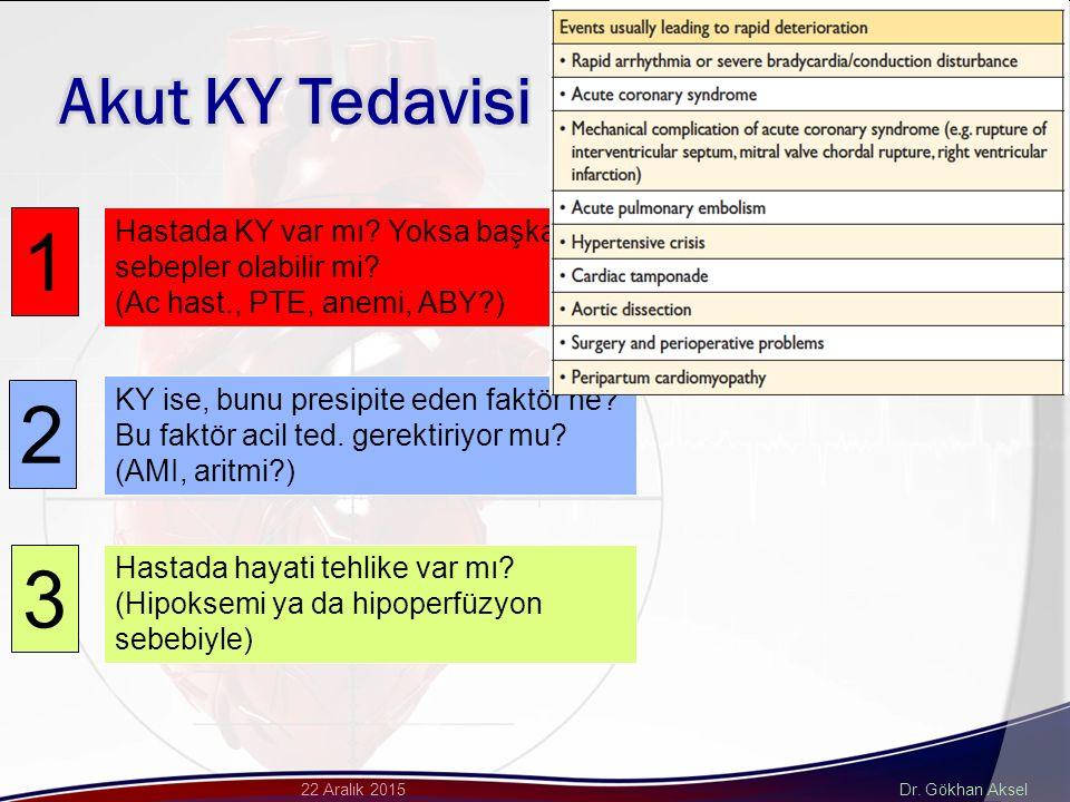 Dr. Gökhan Aksel22 Aralık 2015 1 2 3 Hastada KY var mı.