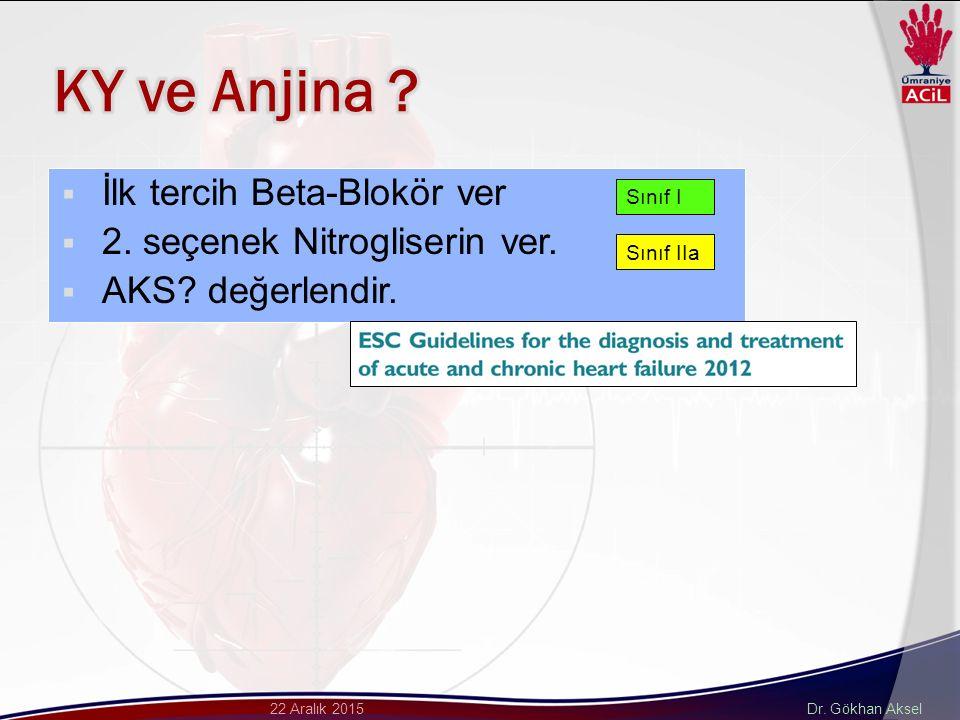 Dr. Gökhan Aksel22 Aralık 2015  İlk tercih Beta-Blokör ver  2.
