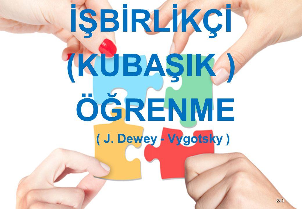 İŞBİRLİKÇİ (KUBAŞIK ) ÖĞRENME ( J. Dewey - Vygotsky ) 243