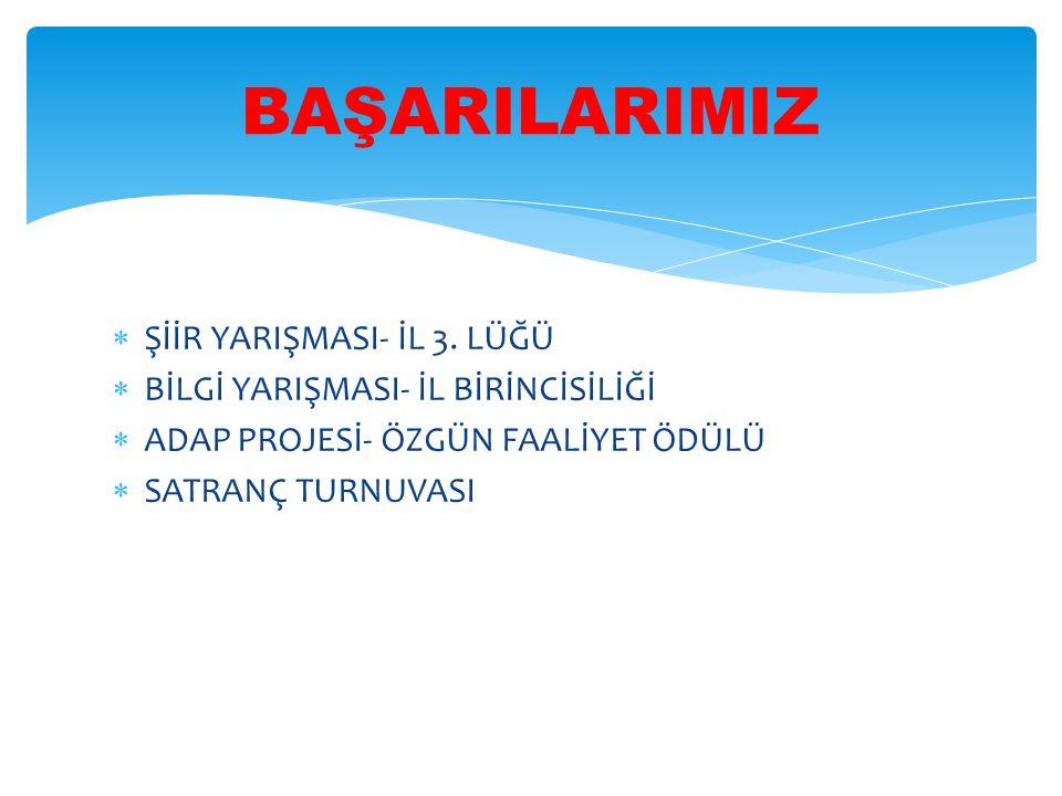  ŞİİR YARIŞMASI- İL 3.
