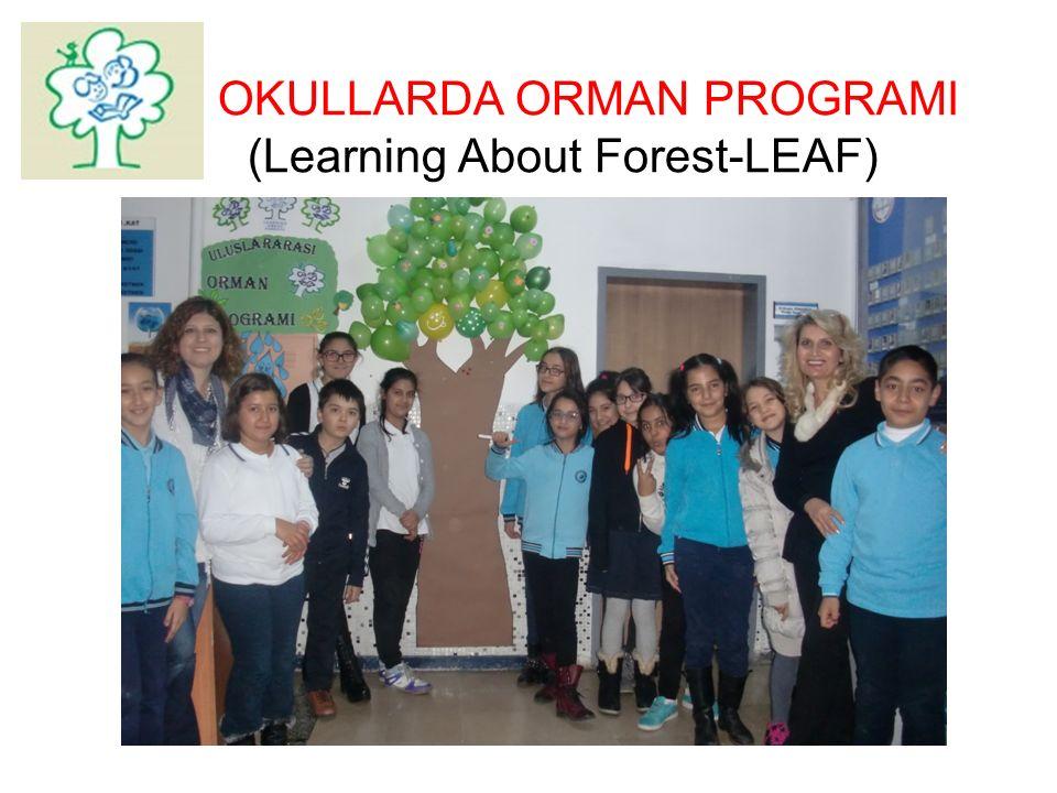 TÜRÇEV TÜRKİYE ÇEVRE EĞİTİM VAKFI Okul öncesi eğitim kurumları ve ilköğretim okullarında yürütülen Okullarda Orman Programı çocuklarda orman eko-sistemi bilgisinin geliştirilmesi ve ormanın sosyal, ekonomik ve kültürel boyutunun tanıtılmasını amaçlayan, 20 ülkede yürütülen uluslararası bir çevre eğitim Programı dır.
