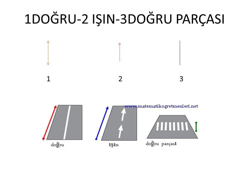 1DOĞRU-2 IŞIN-3DOĞRU PARÇASI 1 2 3