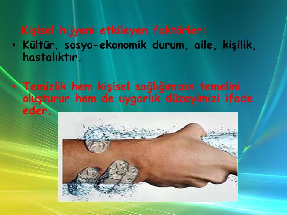 EL HİJYENİ Ellerimiz, vücudun çevre ile en çok temas eden ve en çok kirlenen organıdır.