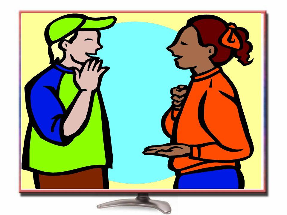 Kulakları duymayan insanlar işaret dili ile anlaşır.