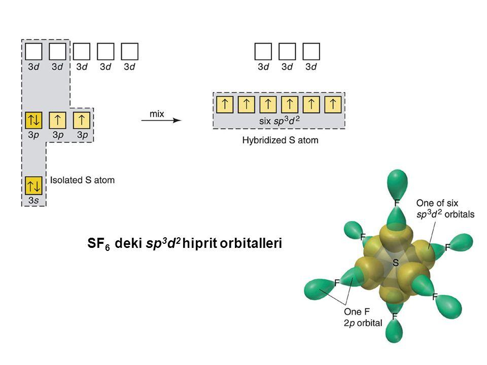 SF 6 deki sp 3 d 2 hiprit orbitalleri