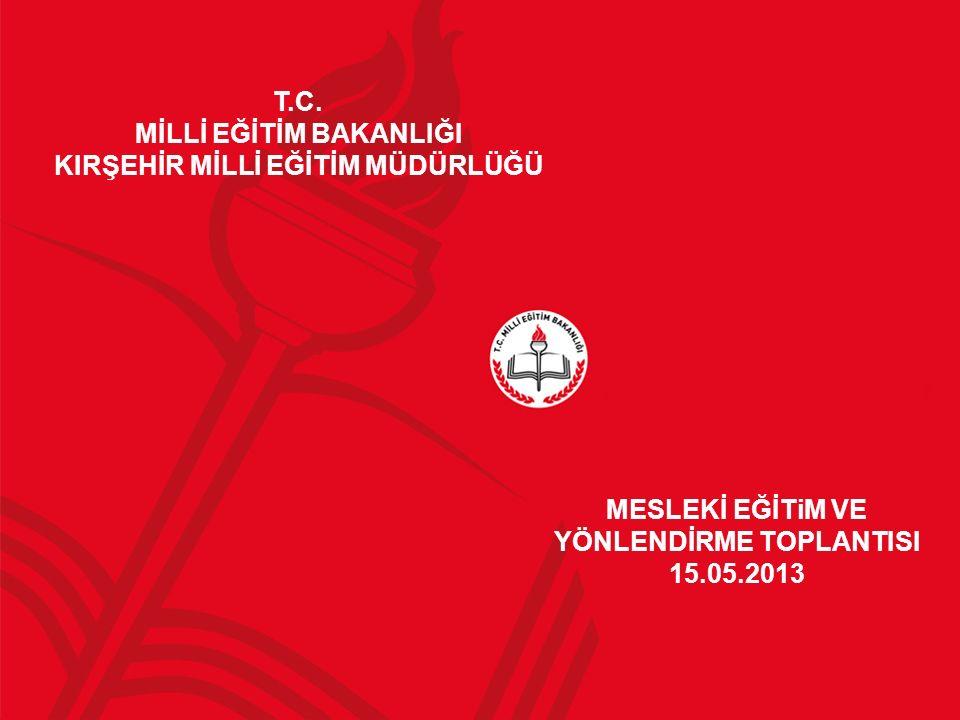 MESLEKİ EĞİTiM VE YÖNLENDİRME TOPLANTISI 15.05.2013 T.C.