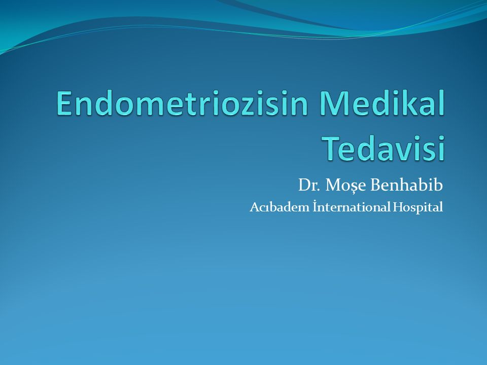 Dr. Moşe Benhabib Acıbadem İnternational Hospital