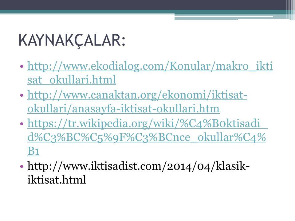 KAYNAKÇALAR: http://www.ekodialog.com/Konular/makro_ikti sat_okullari.htmlhttp://www.ekodialog.com/Konular/makro_ikti sat_okullari.html http://www.can