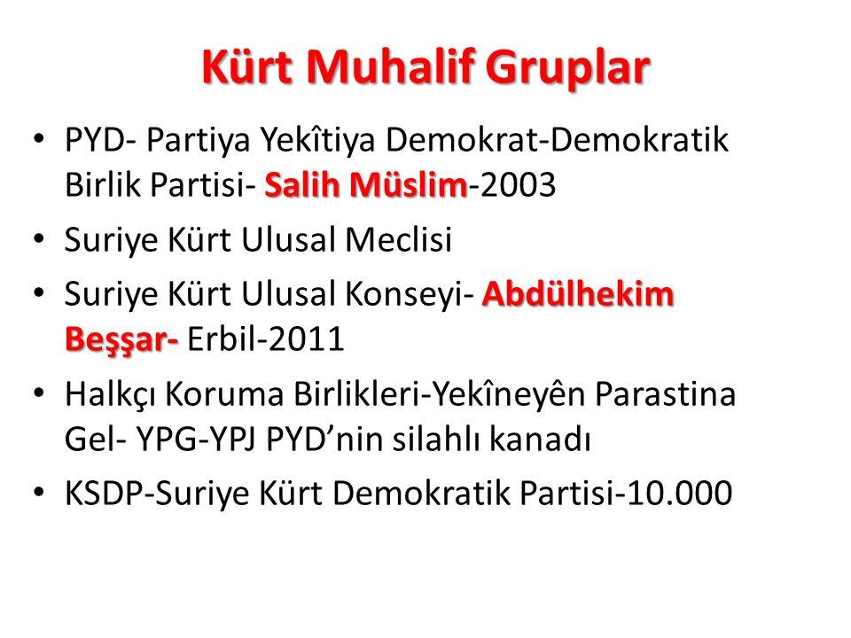 Kürt Muhalif Gruplar Salih Müslim PYD- Partiya Yekîtiya Demokrat-Demokratik Birlik Partisi- Salih Müslim-2003 Suriye Kürt Ulusal Meclisi Abdülhekim Be