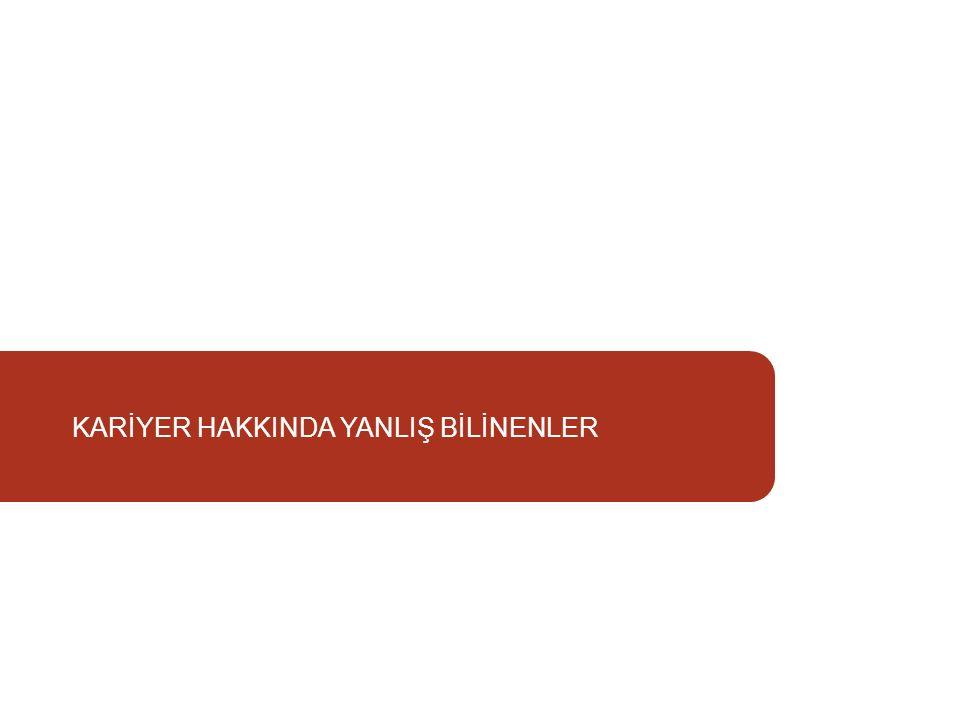KARİYER HAKKINDA YANLIŞ BİLİNENLER