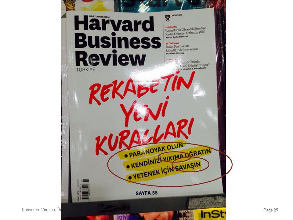 Kariyer ve Varoluş, Üniversite Çok Geç, İstanbul, 20 Ocak 2016 Page 25