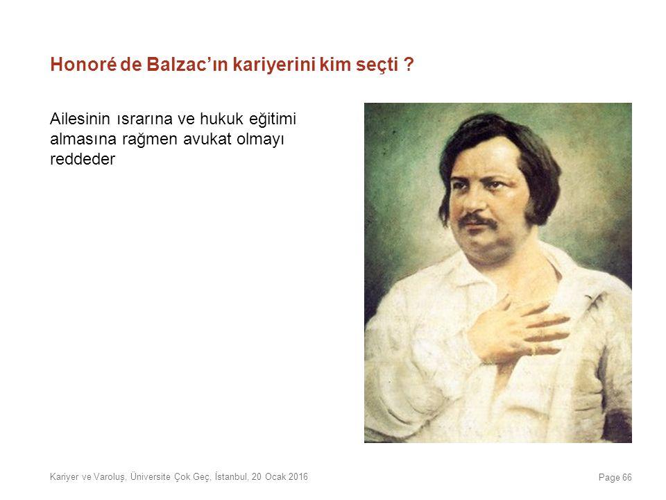 Honoré de Balzac'ın kariyerini kim seçti ? Ailesinin ısrarına ve hukuk eğitimi almasına rağmen avukat olmayı reddeder Kariyer ve Varoluş, Üniversite Ç